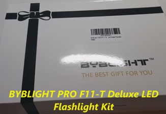 Review of BYBLIGHT PRO F11-T Deluxe LED Flashlight Kit