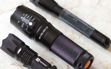 BYBLIGHT XML T6 800 Lumen Cree LED Tactical Flashlight Review